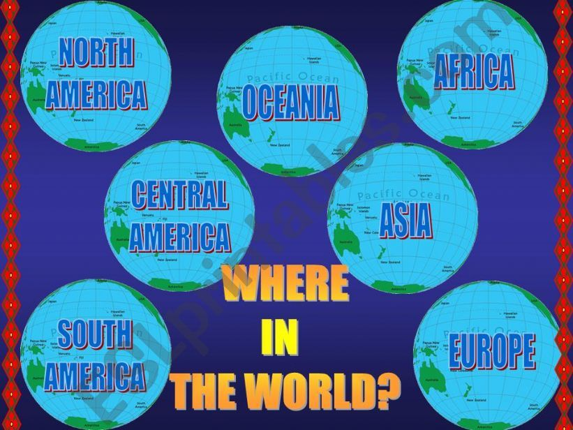 GEOGRAPHY QUIZ powerpoint