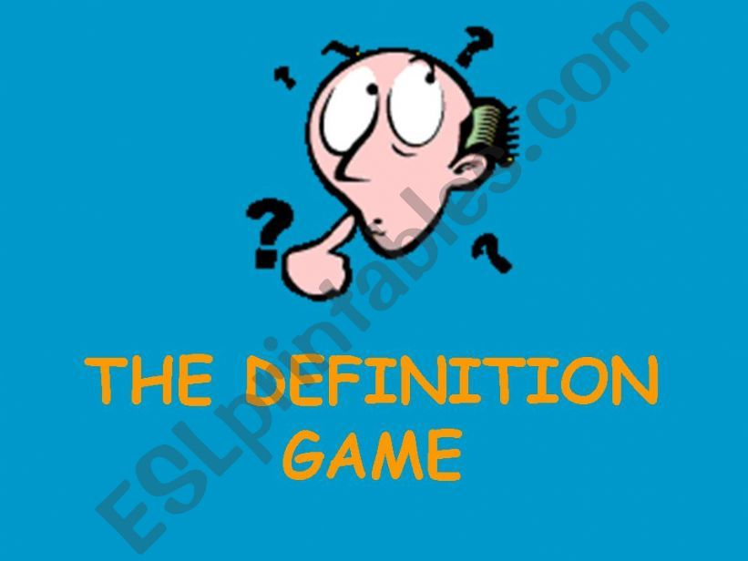 The definition game: Adjectives of personality