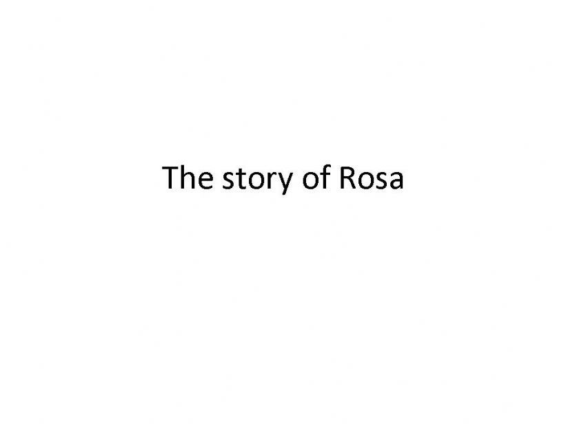 The Story of Rosa Park powerpoint