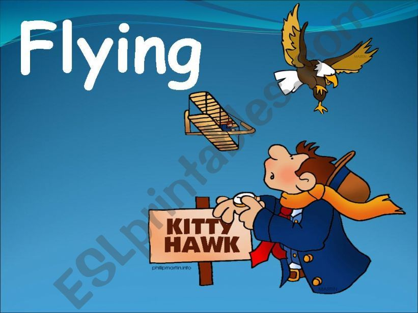 Flying powerpoint