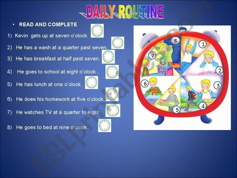Daily routine powerpoint