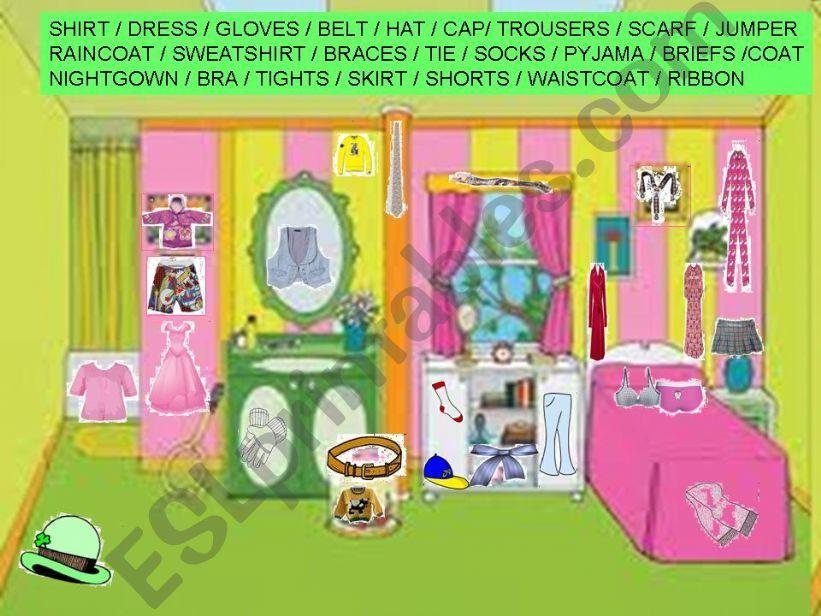 Hidden items of clothing in the bedroom (1/2)