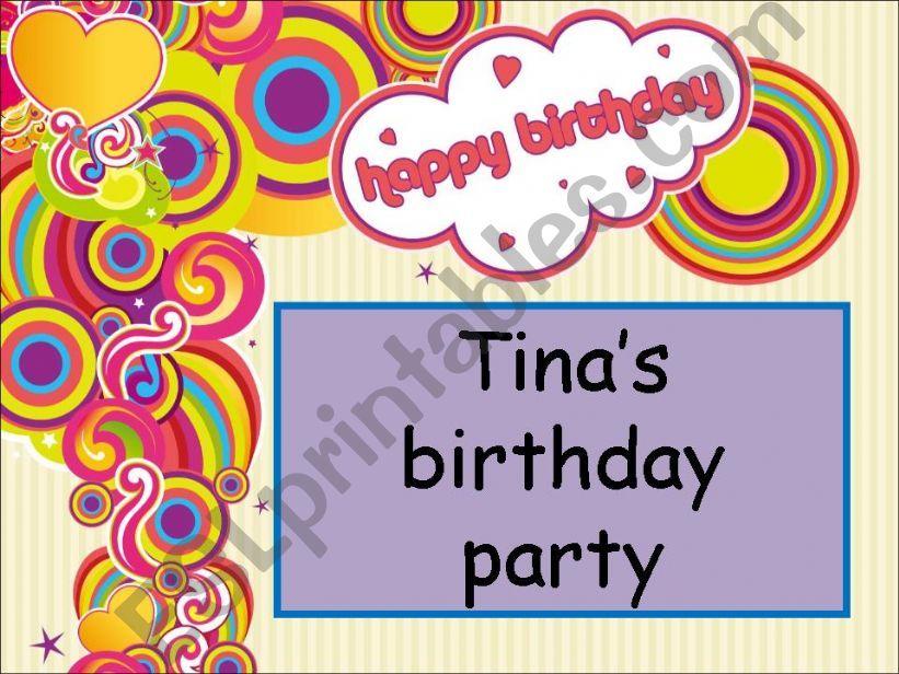Tina´s birthday party powerpoint