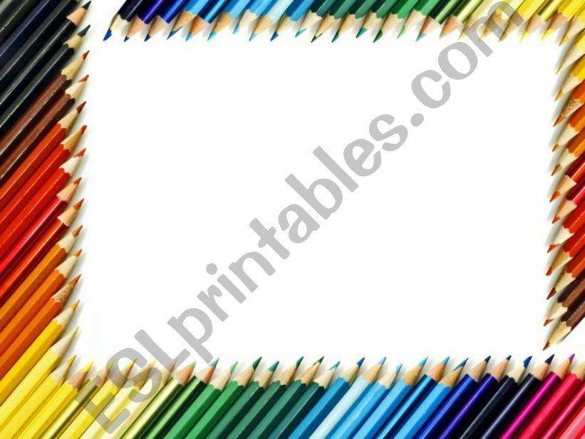 Color pencils templete powerpoint