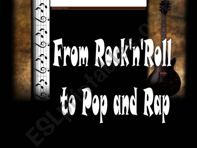 From Rock&Roll to Pop and Rap powerpoint