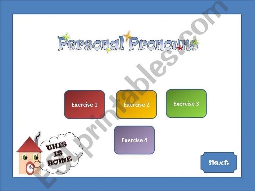Personal Pronouns 1/2 powerpoint