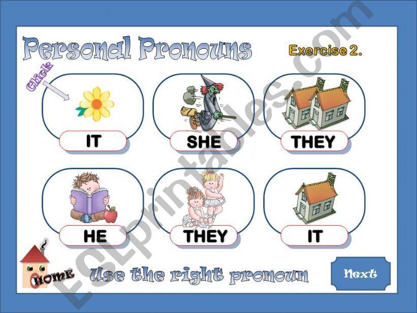 Personal Pronouns 2 / 2 powerpoint