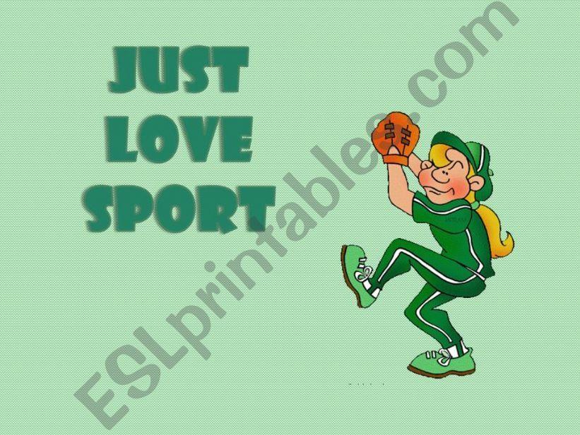 Just love sport (1/2) powerpoint