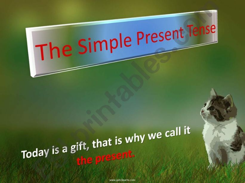 the simple present tense powerpoint