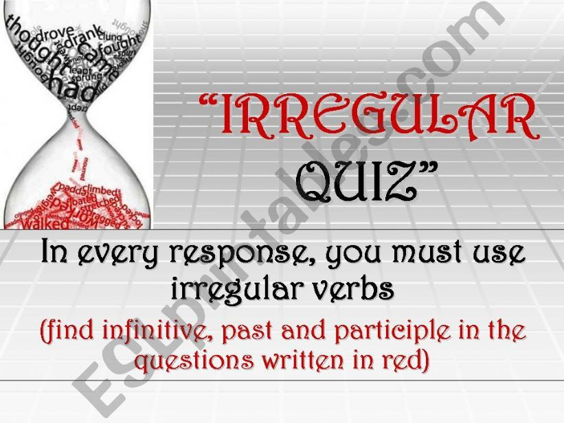 Irregular quiz powerpoint
