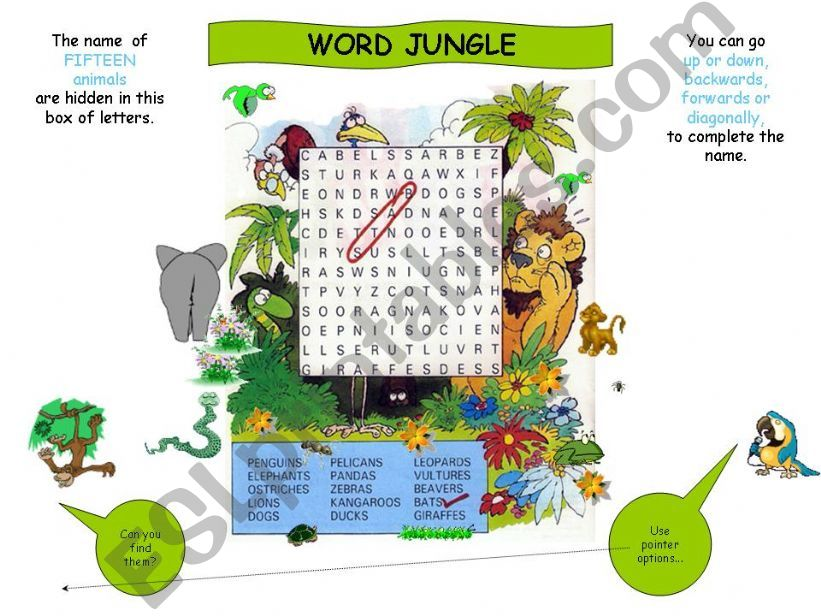 Word Jungle powerpoint