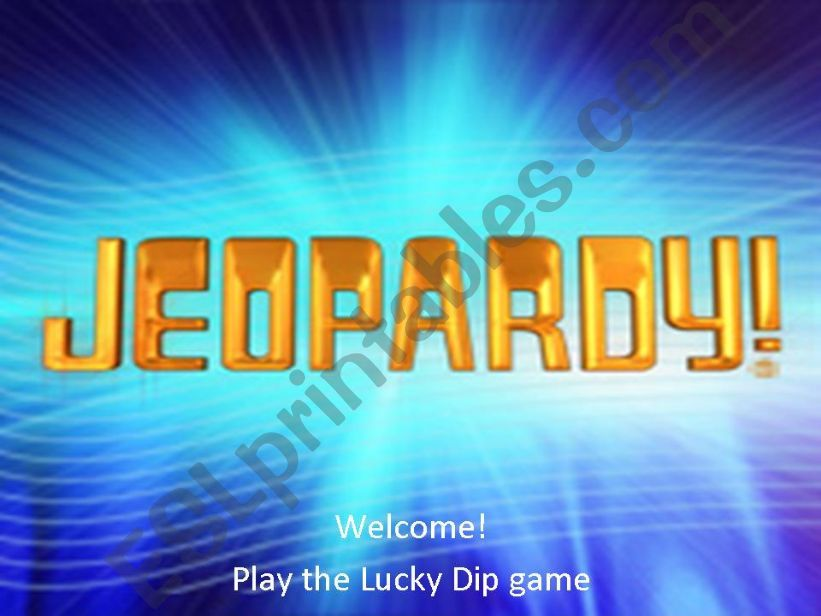ESL - English PowerPoints: Jeopardy - Past simple, verb -ing and