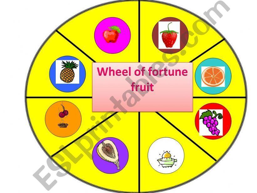 wheel of fortune - fruit powerpoint