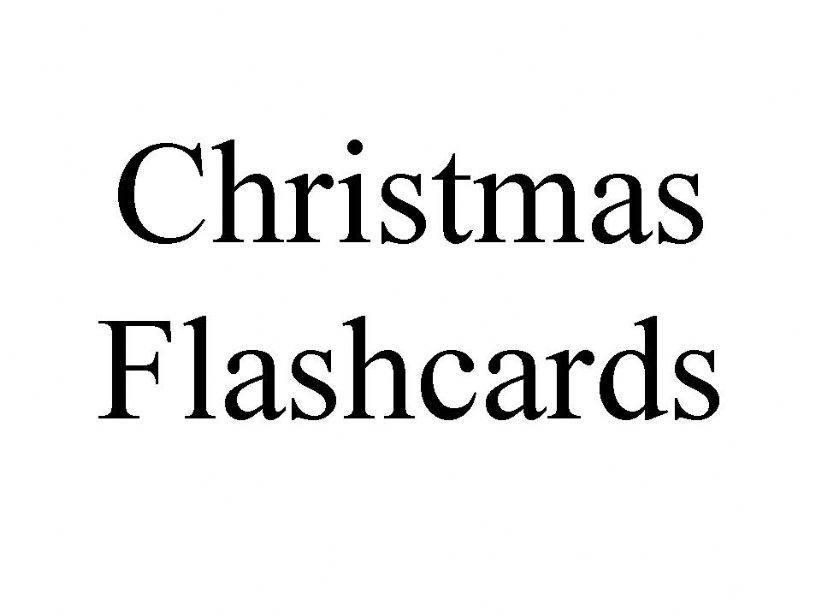 Christmas words powerpoint
