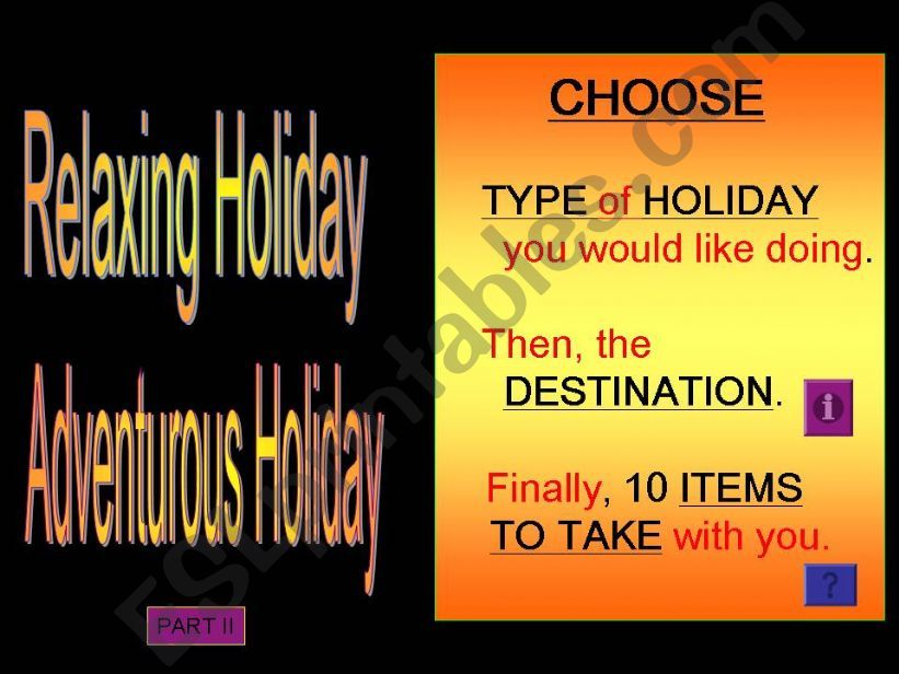 My Ideal Holiday powerpoint