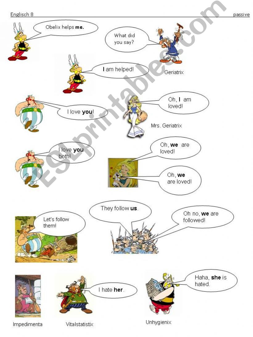 asterix and obelix cartoons in english