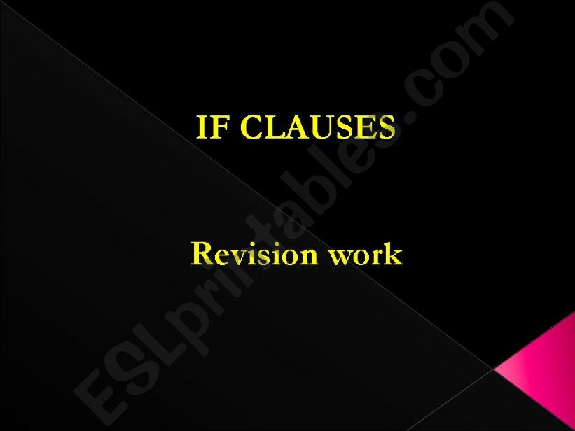 If clauses - type I, II, III powerpoint