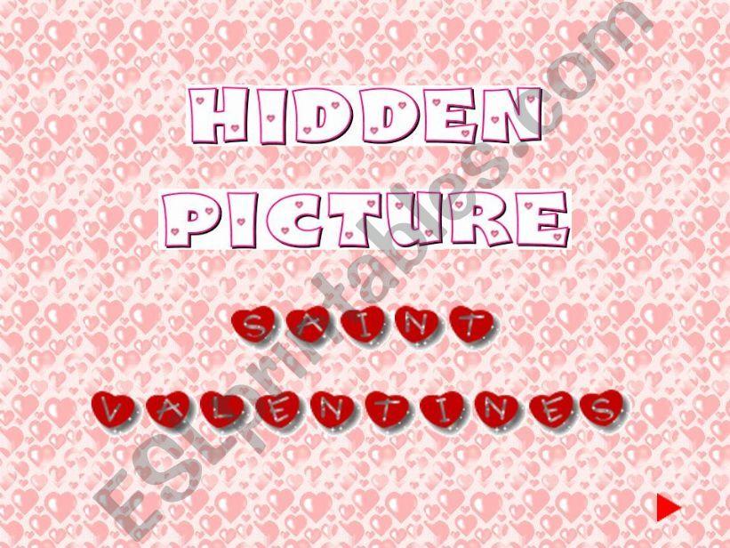Hidden Picture Saint Valentines