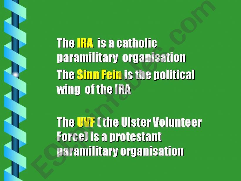2nde part of Northern Ireland history ( 2nde /5 parts)