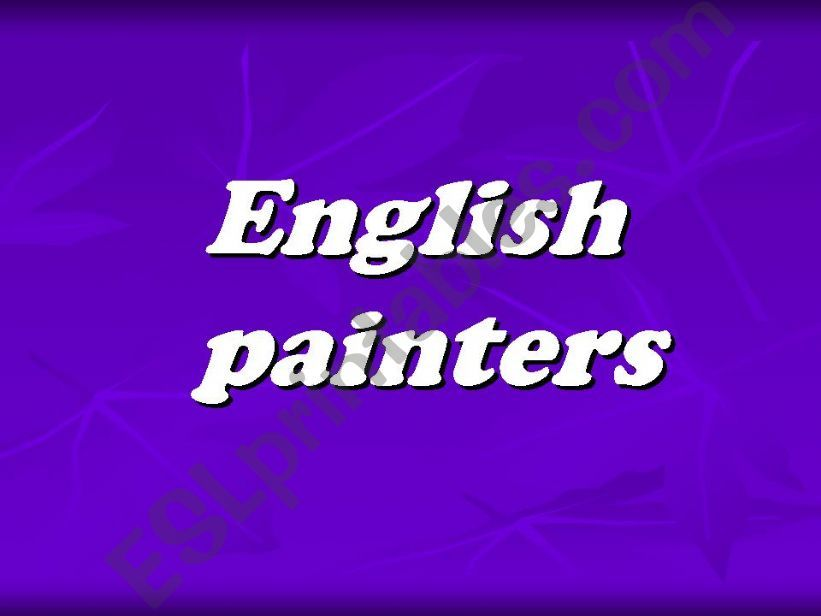 English painters powerpoint