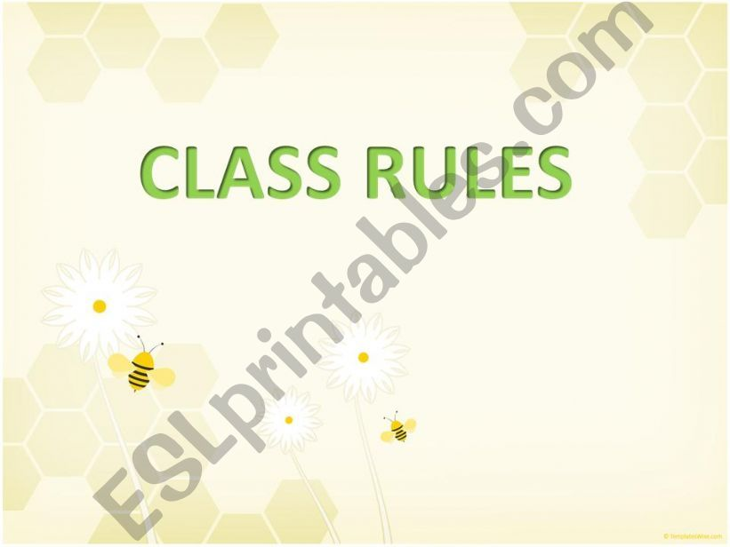 Class rules for students powerpoint