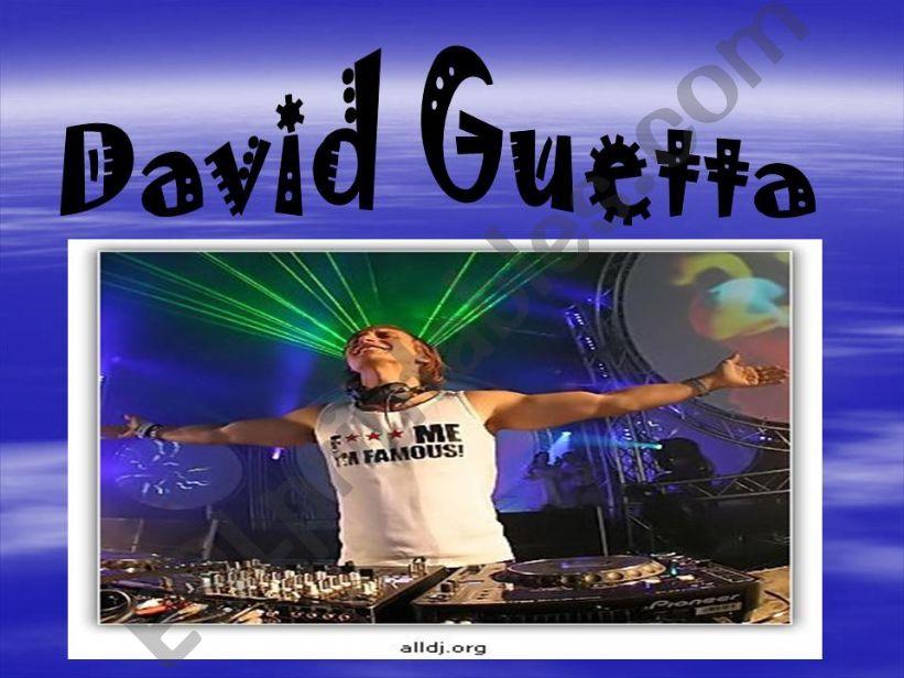 DANCE MUSIC: DAVID GUETTA powerpoint