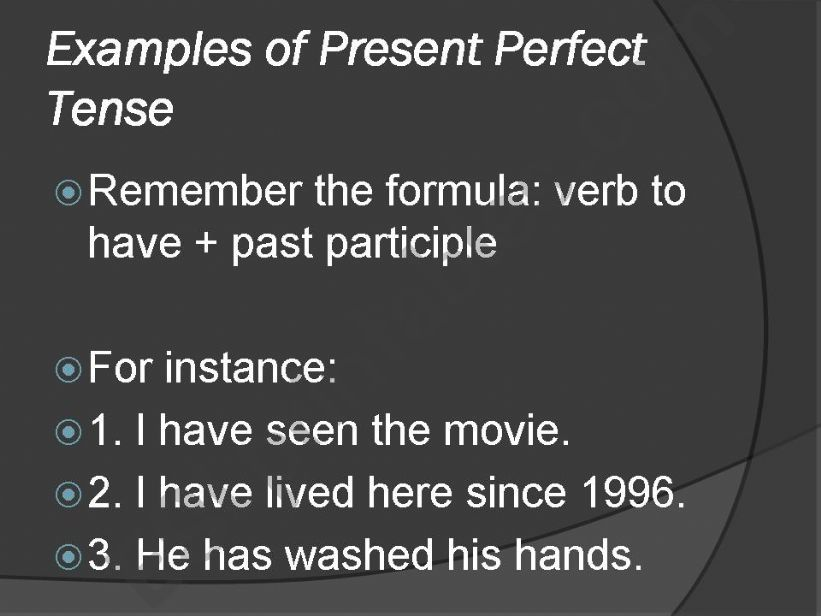 ESL - English PowerPoints: Eyes Shut Game (Present Perfect