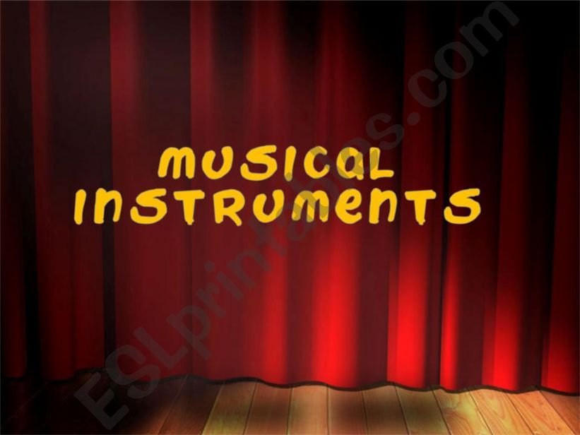 Musical instruments powerpoint