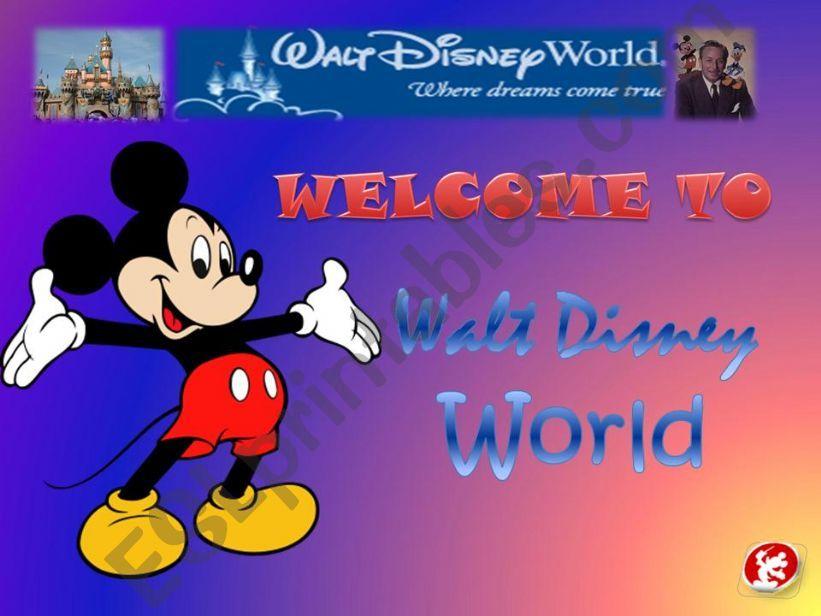 Walt Disney World powerpoint