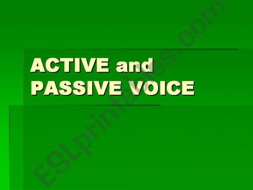 active - passive voice powerpoint