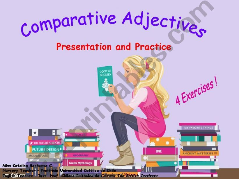 Comparatives + 4 exercises!! powerpoint