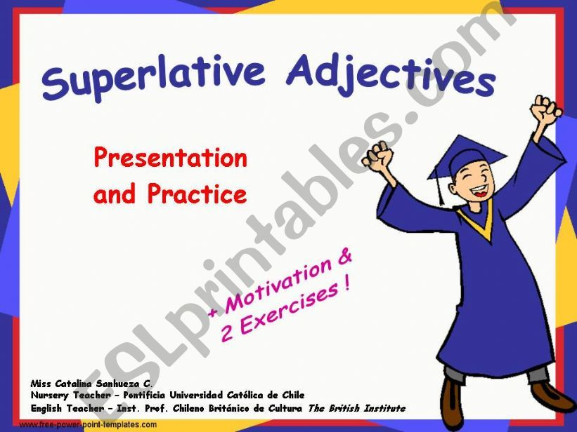 ESL - English PowerPoints: Superlatives + Motivation and 2