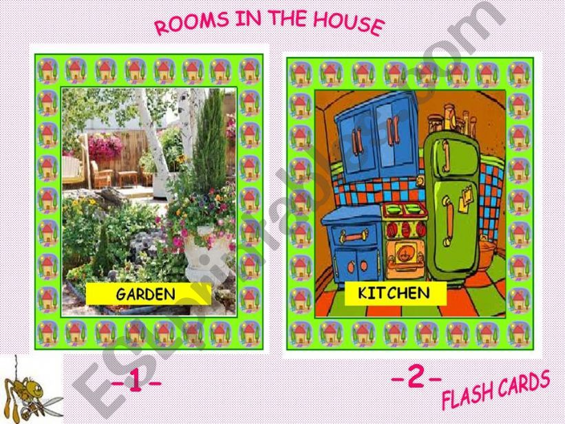 Rooms in the House - Flashcards