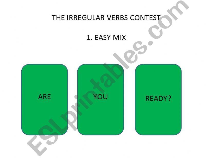 playing with irregular verbs- easy mix