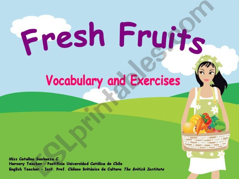 Fresh Fruits powerpoint