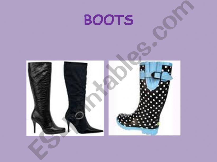 CLOTHES AND ACESSORIES powerpoint