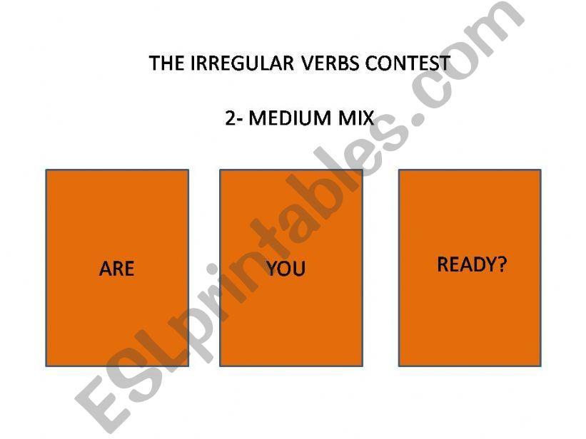 playing with irregular verbs - medium mix