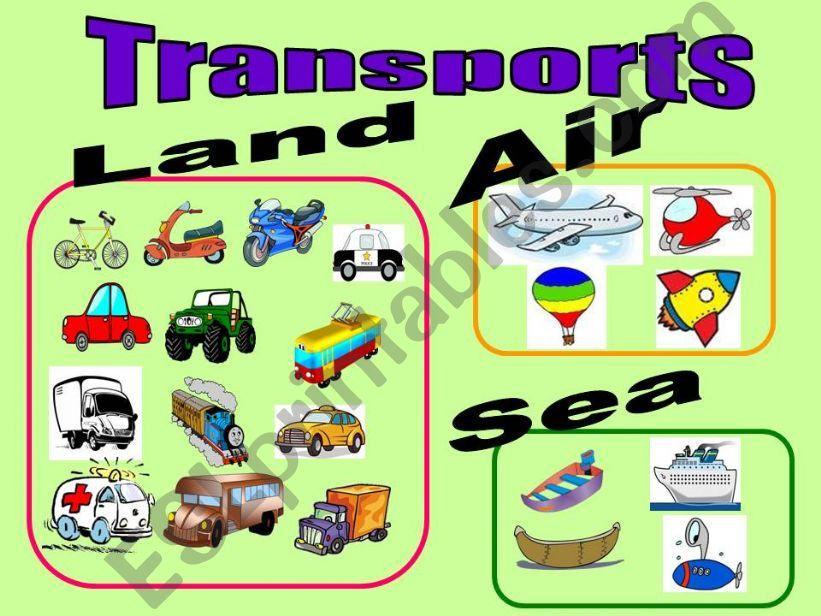 21 means of transport ( 11 slides ).
