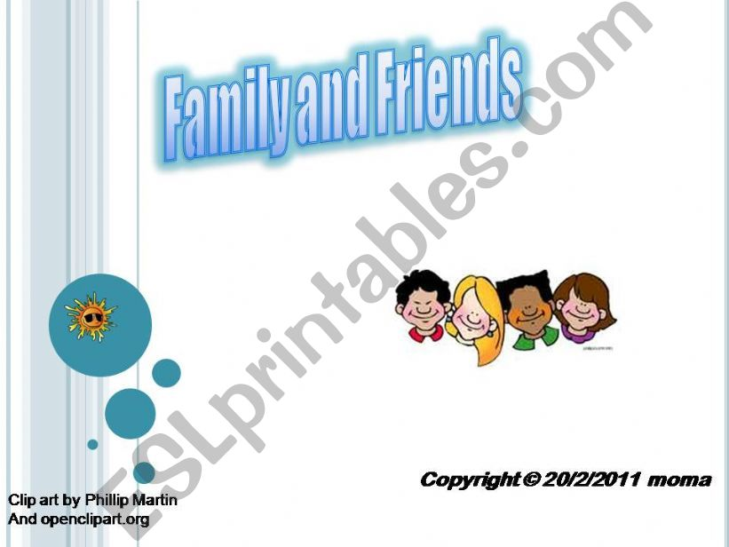 Family and Friends powerpoint