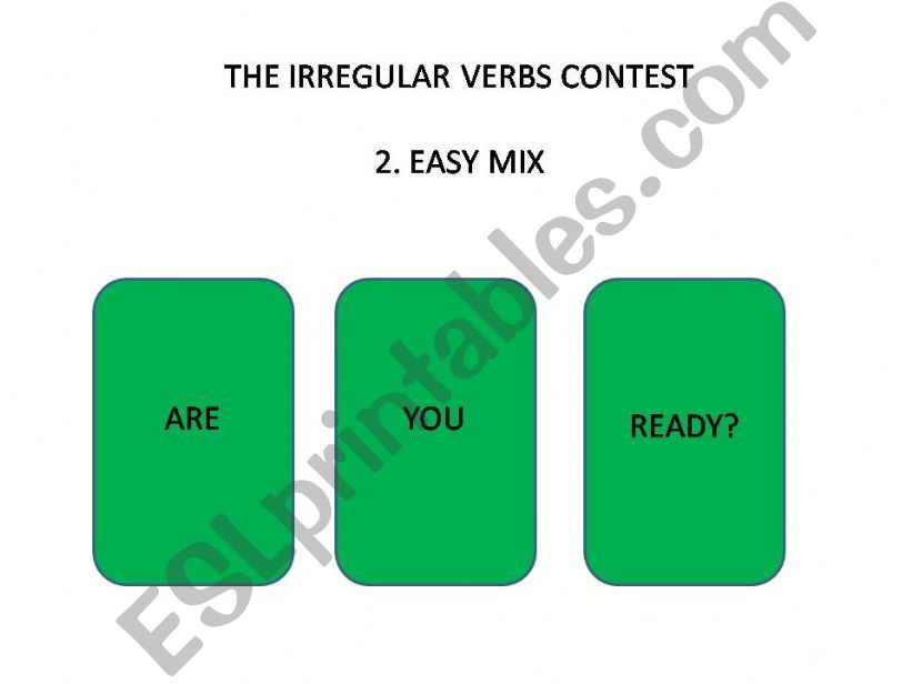 playing with irregular verbs easy mix part 2