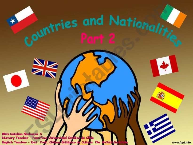 Countries and Nationalities -  Part 2