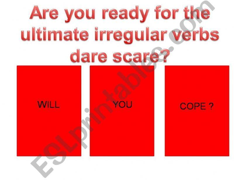 playing with irregular verbs - hard mix