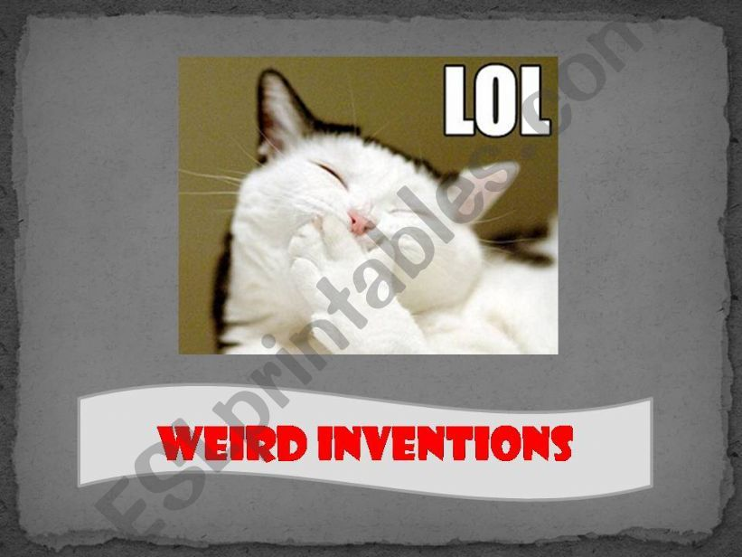 Funny Weird Inventions powerpoint