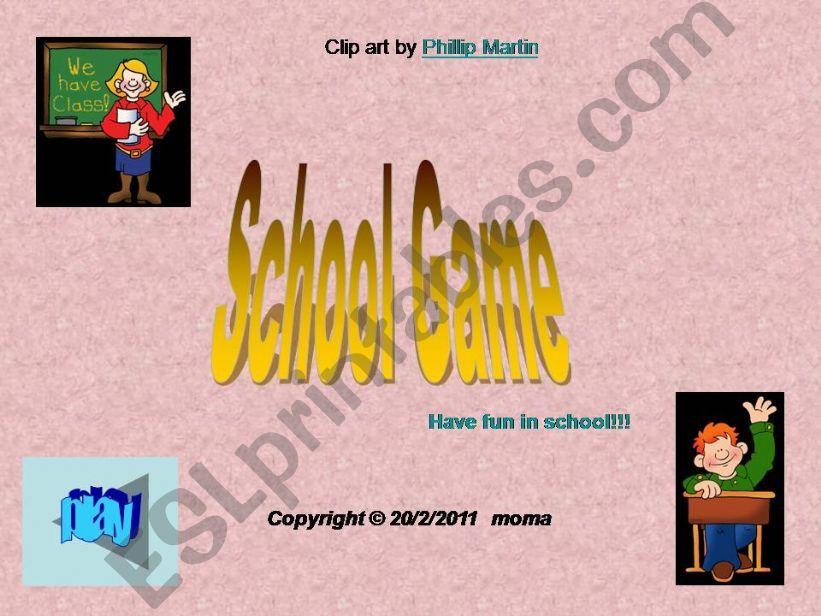 School Game powerpoint