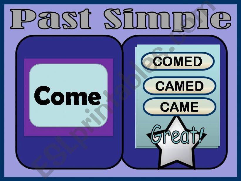 Past tense verbs powerpoint