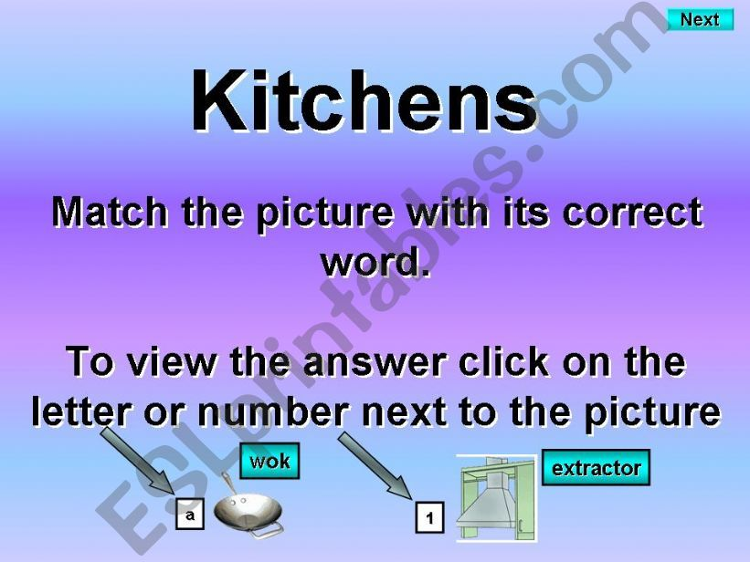 Kitchen equipment and machinery - Matching