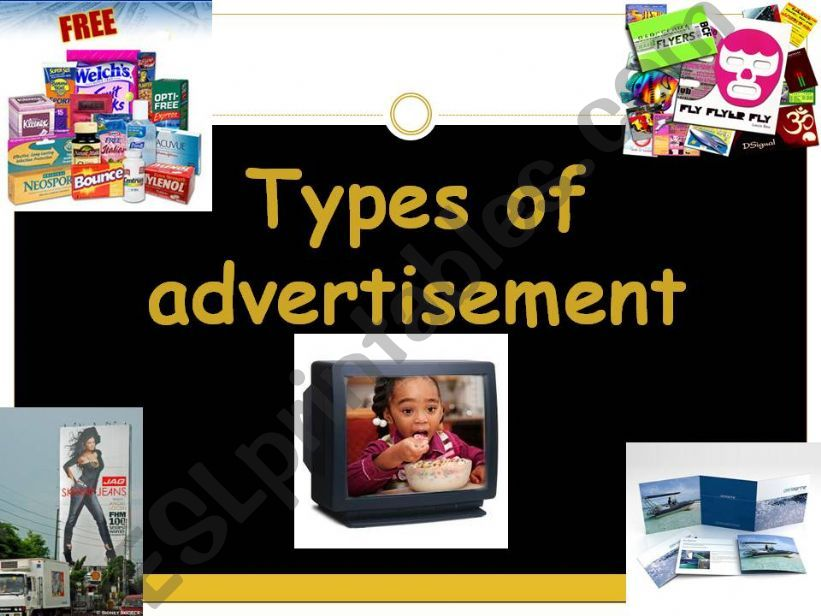 TYPES OF ADVERTISEMENT powerpoint