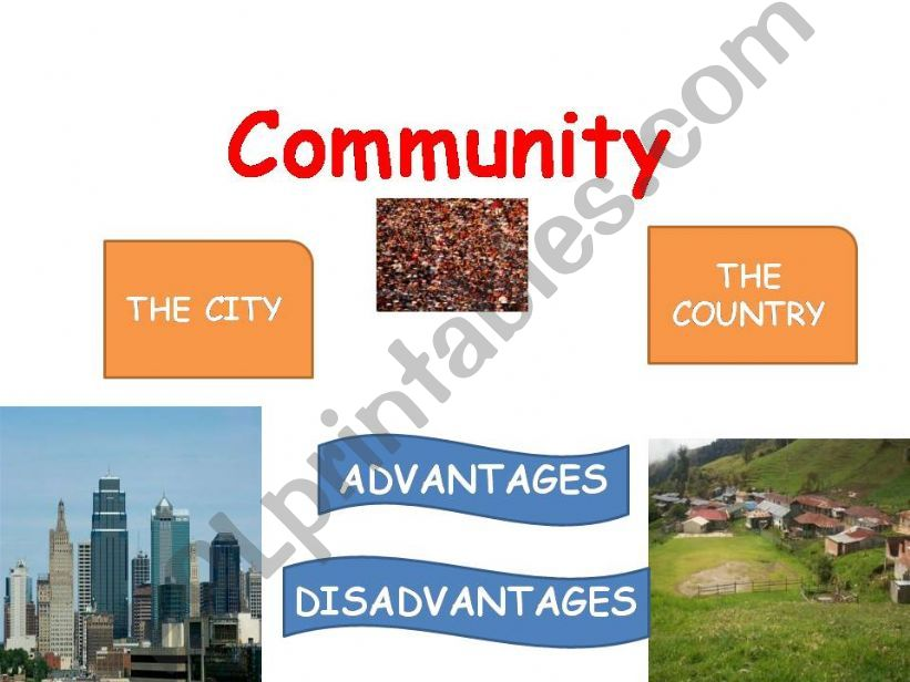 COMMUNITY: THE CITY VS THE COUNTRY