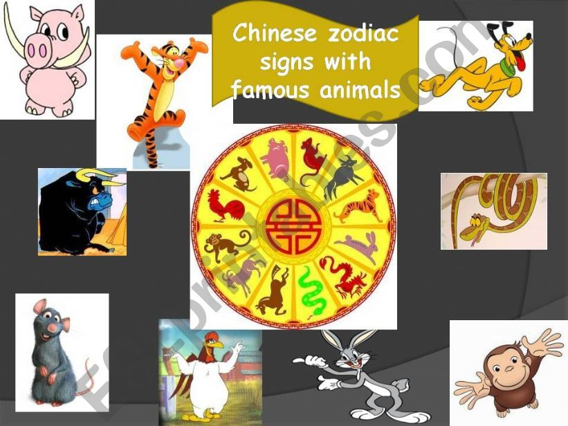 CHINESE ZODIAC SIGNS WITH FAMOUS ANIMALS