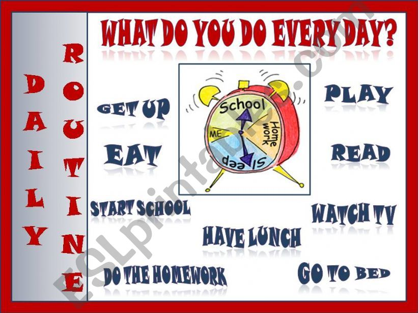What do you do every day? powerpoint